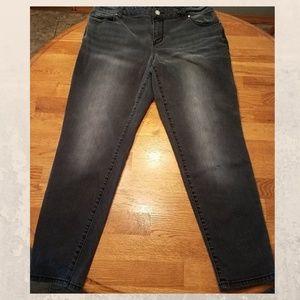 Lane Bryant Skinny Generous Fit Black Jeans 16